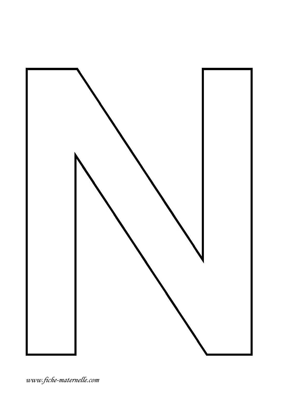 Dessins Lettre N - Éducatifs - Page 2   Alphabet Imprimable avec Modèle D Alphabet