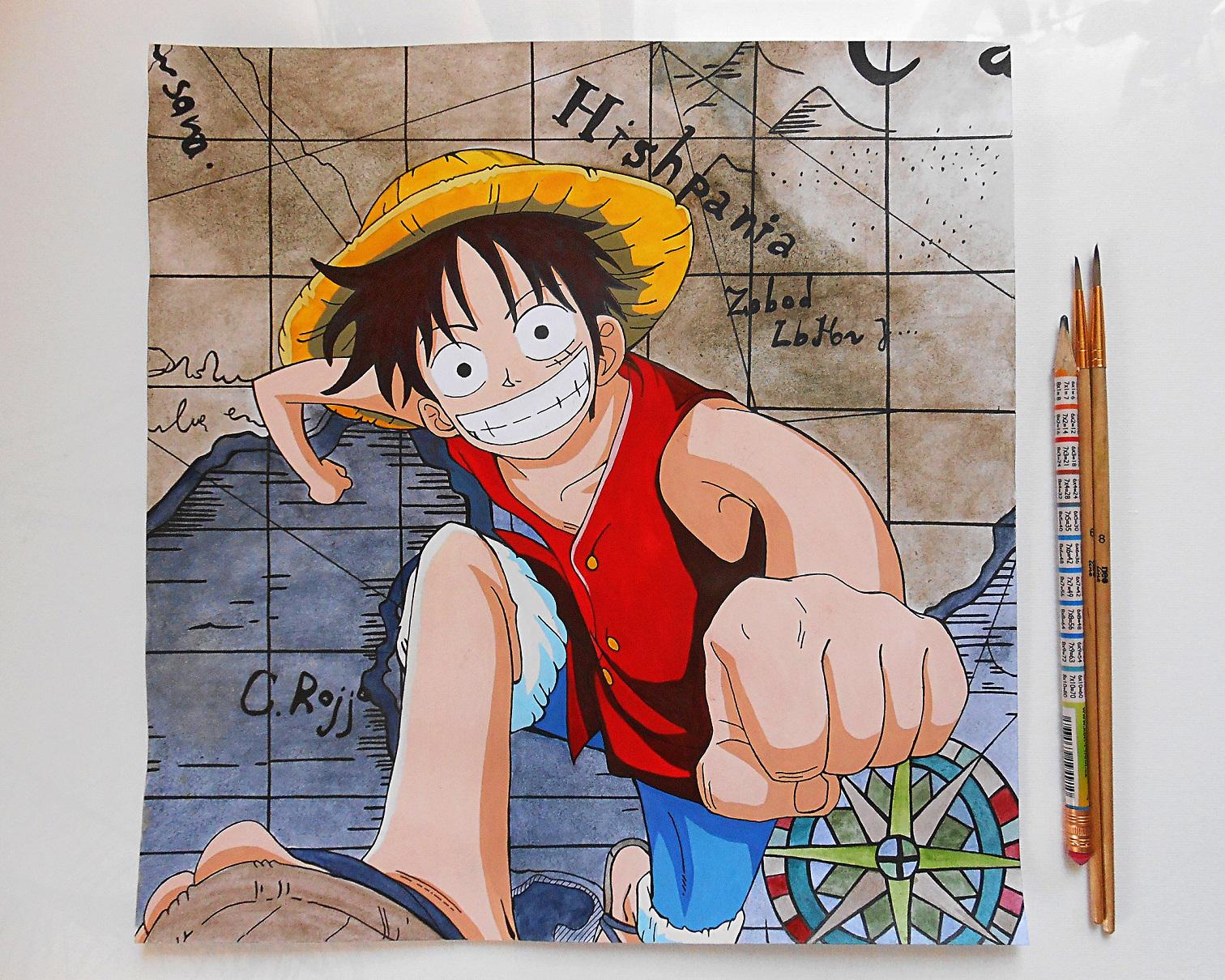 Dessins, Luffy Color Drawing From One Piece Anime, Page 428 dedans Dessin Animé De One Piece