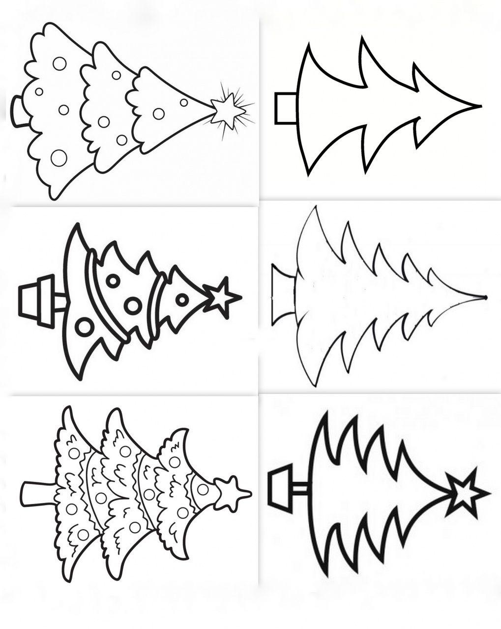 Dessins, Modèles, Coloriages Sapins Noel … | Dessin Sapin De dedans Coloriage De Sapin De Noel A Imprimer Gratuit