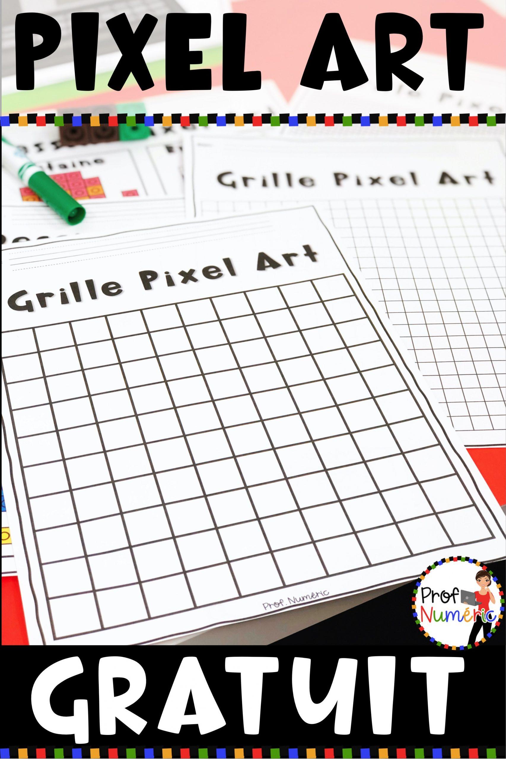 Dessins Pixel Art Numérique - Prof Numéric dedans Coloriage Pixel Gratuit