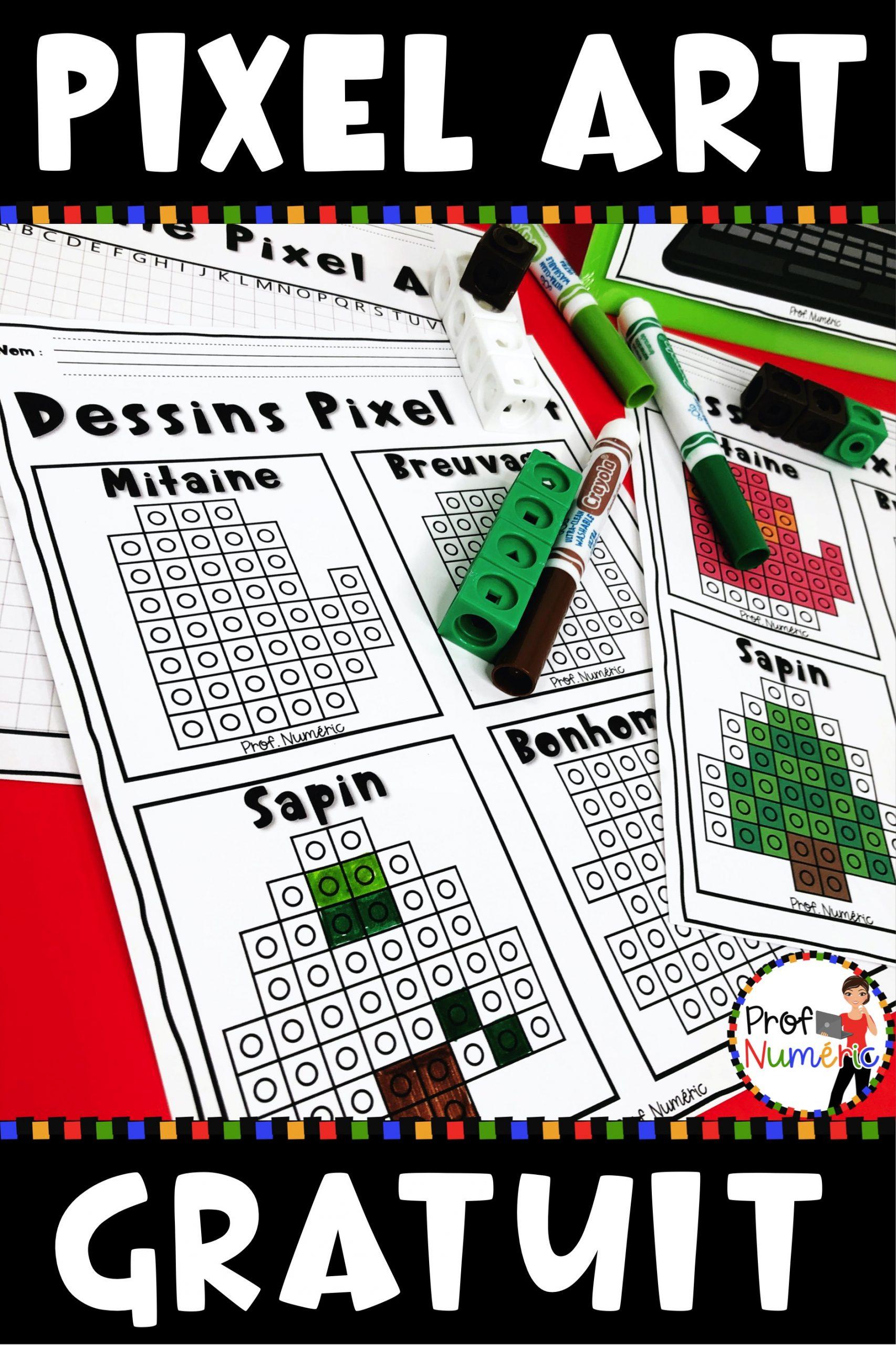 Dessins Pixel Art Numérique - Prof Numéric dedans Jeux De Dessin Pixel Art Gratuit