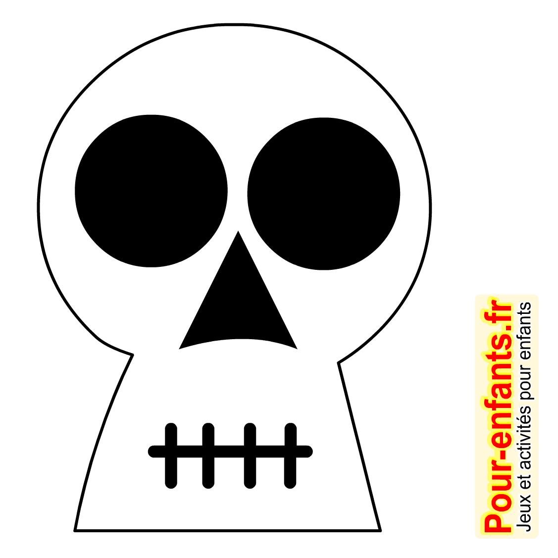 Dessins Tête De Mort Dessin Coloriage Tete De Mort Halloween avec Dessin D Halloween Facile A Dessiner