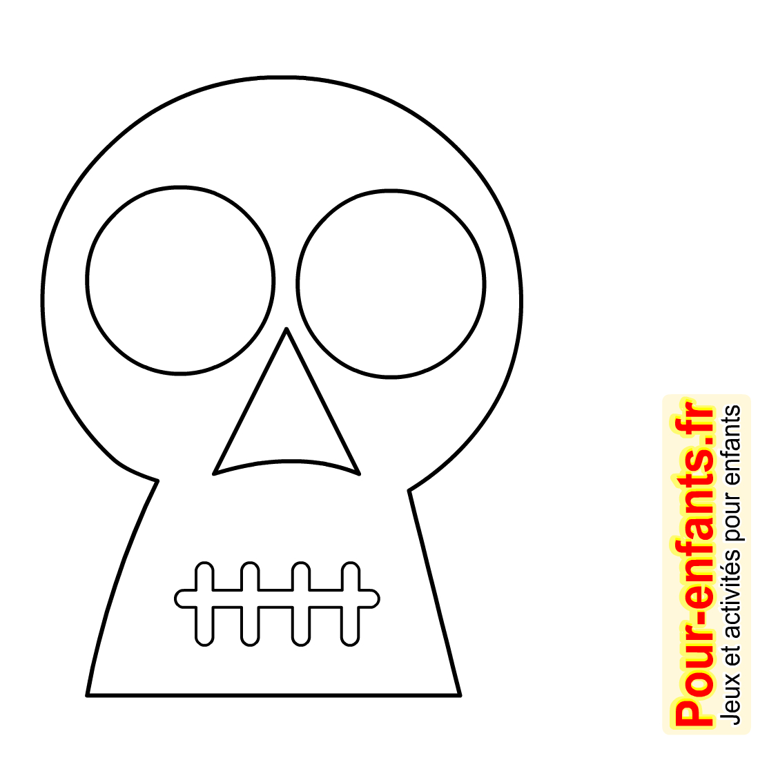 Dessins Tête De Mort Dessin Coloriage Tete De Mort Halloween concernant Dessin D Halloween Facile A Dessiner
