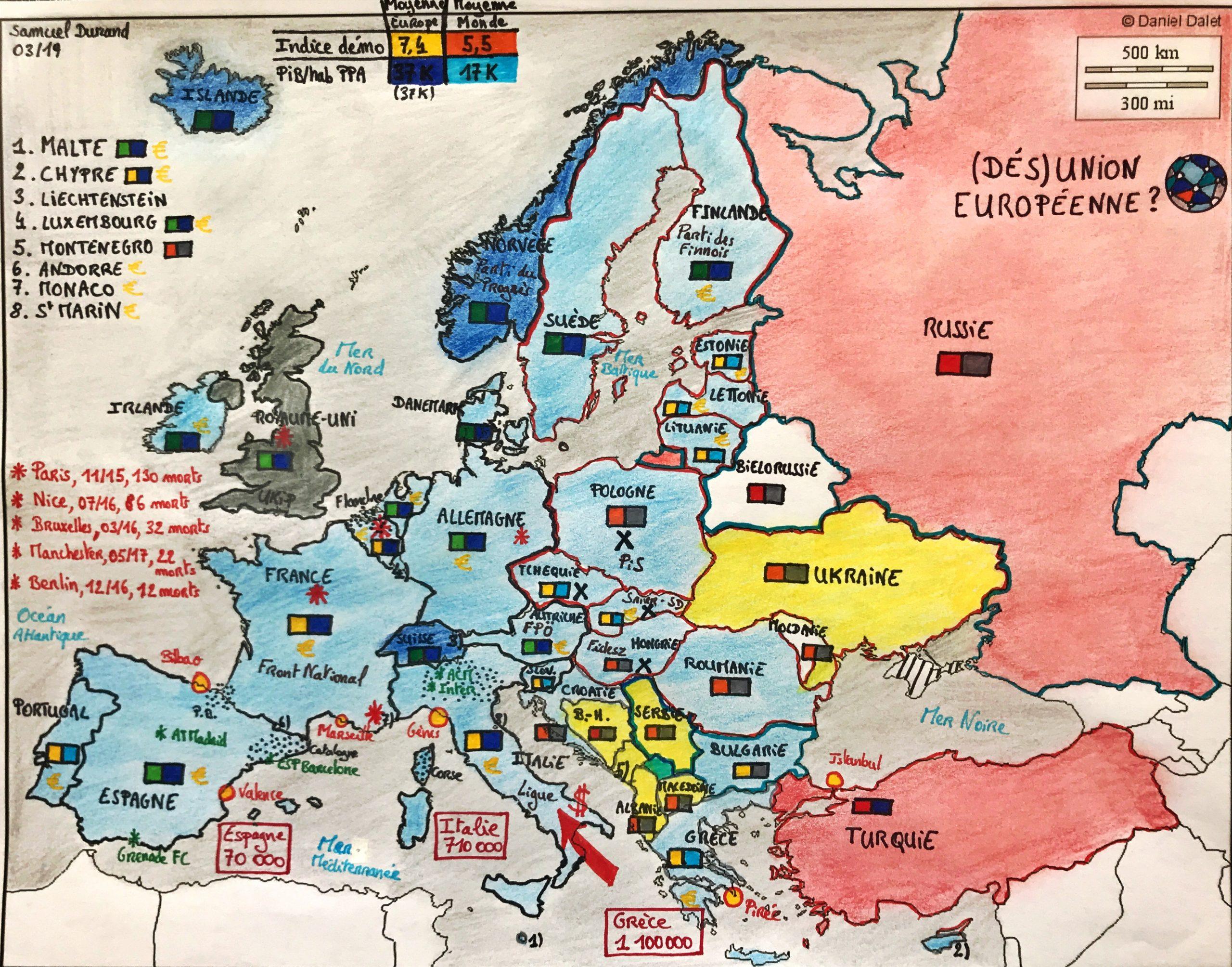 Dés)Union Européenne ? - Analyse Et Carte - Major-Prépa avec Carte Construction Européenne