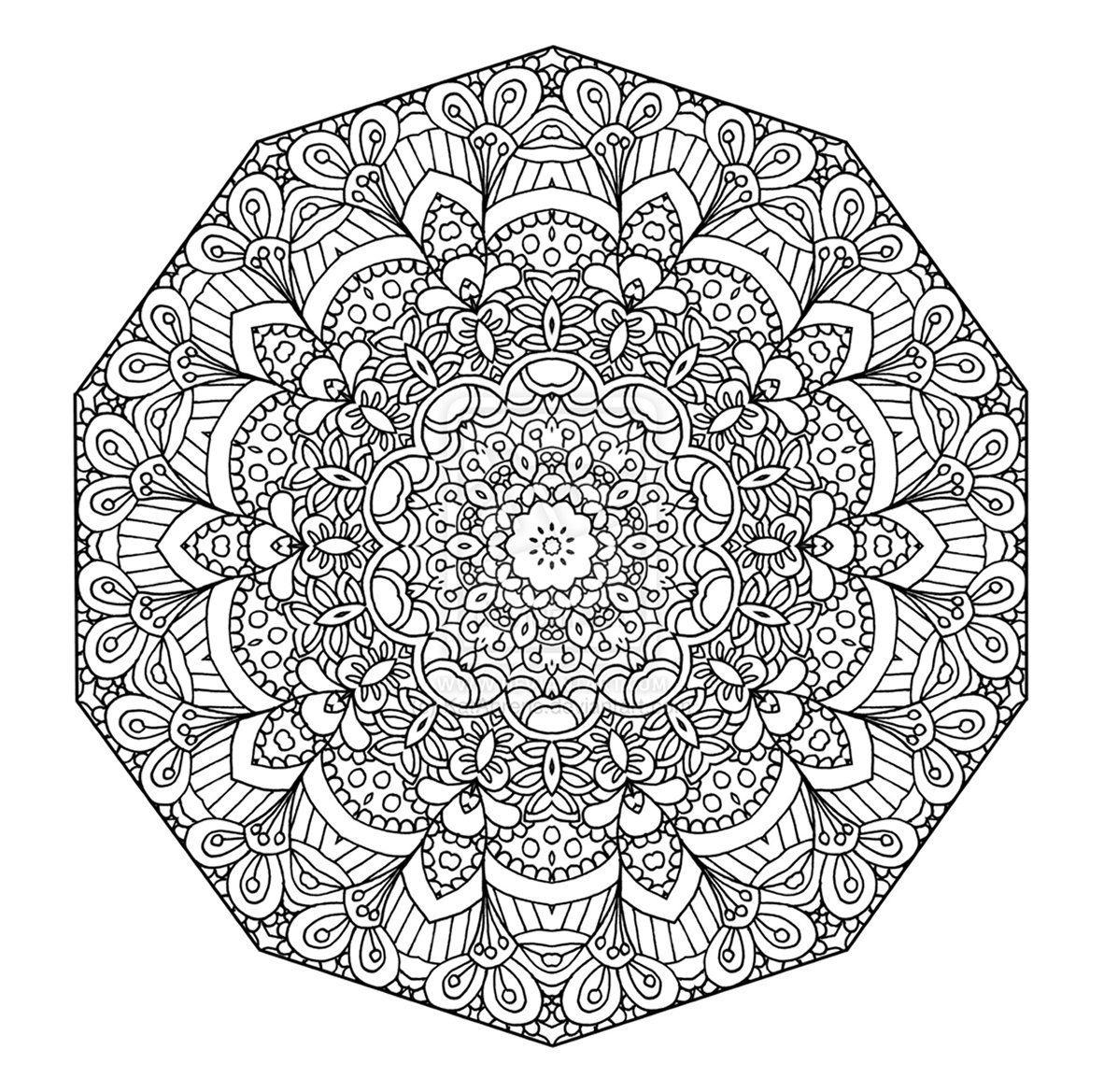 Detailed Coloring Pages For Teenagers | Detailed Abstract à Coloriage De Mandala Difficile A Imprimer