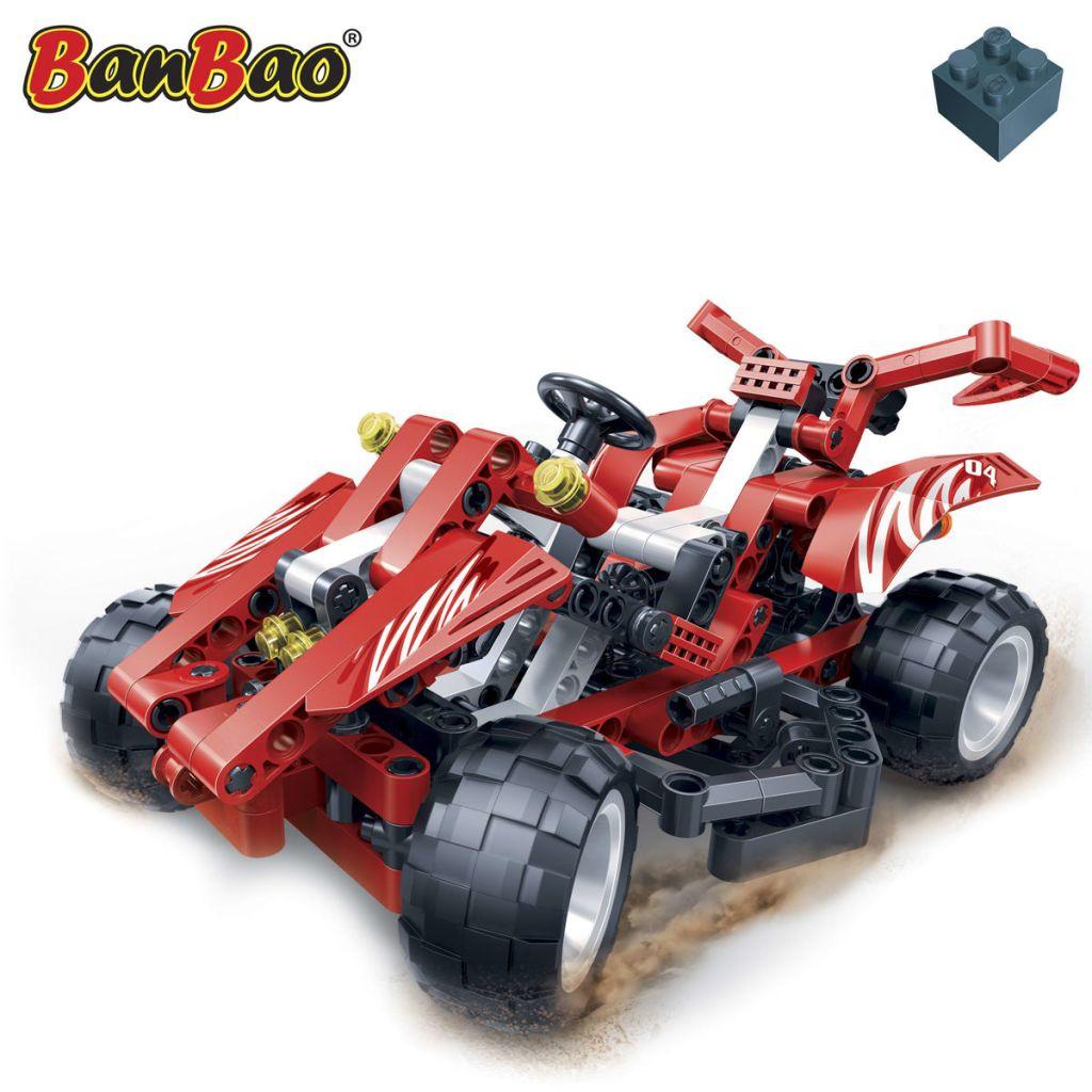Détails Sur Jeu Bloc De Construction Pour Enfant Voiture De Course Rouge  Racer Banbao 6955 à Jeux Course Enfant