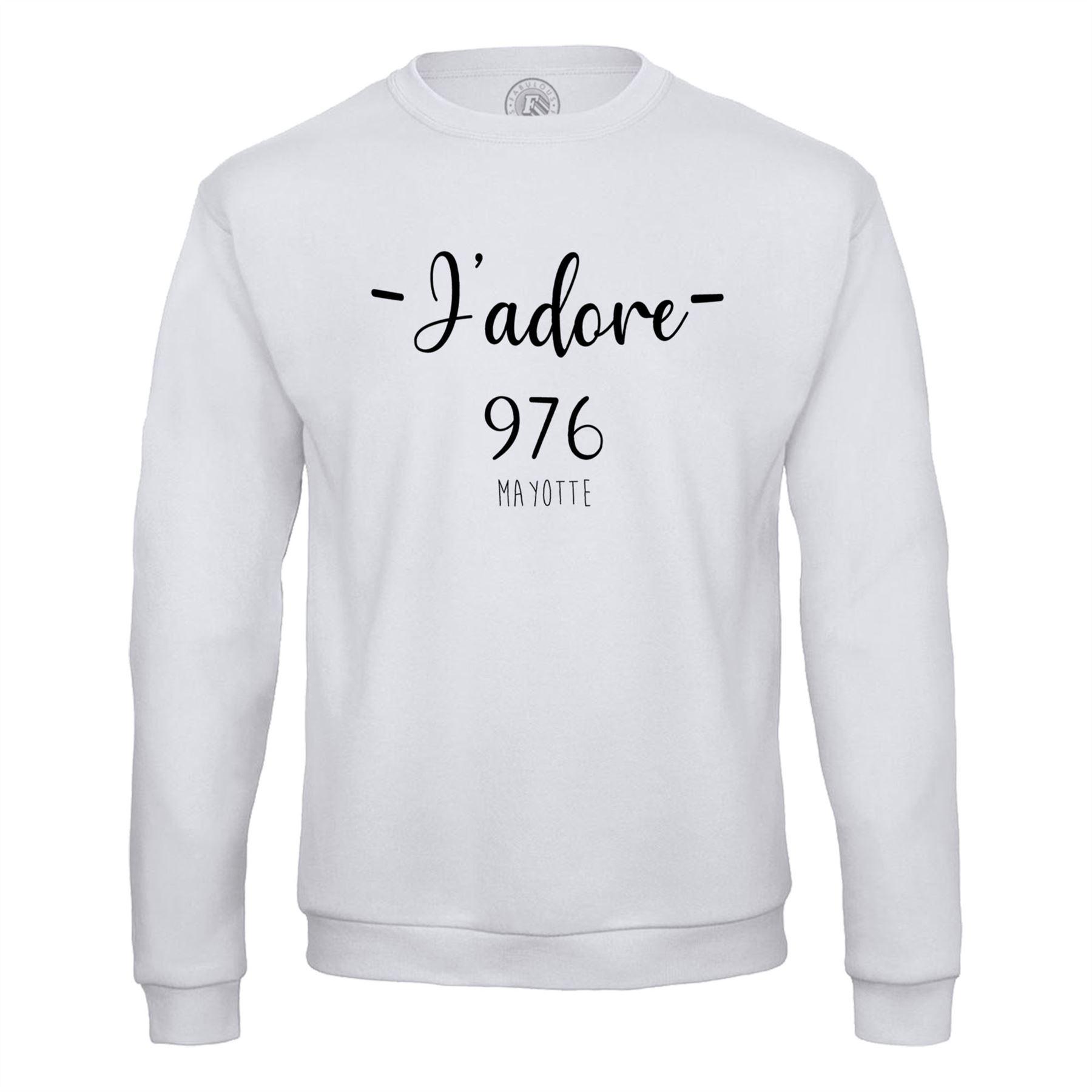 Détails Sur Sweat Shirt Homme J'adore 976 Mayotte Departement France Region tout Région Et Département France