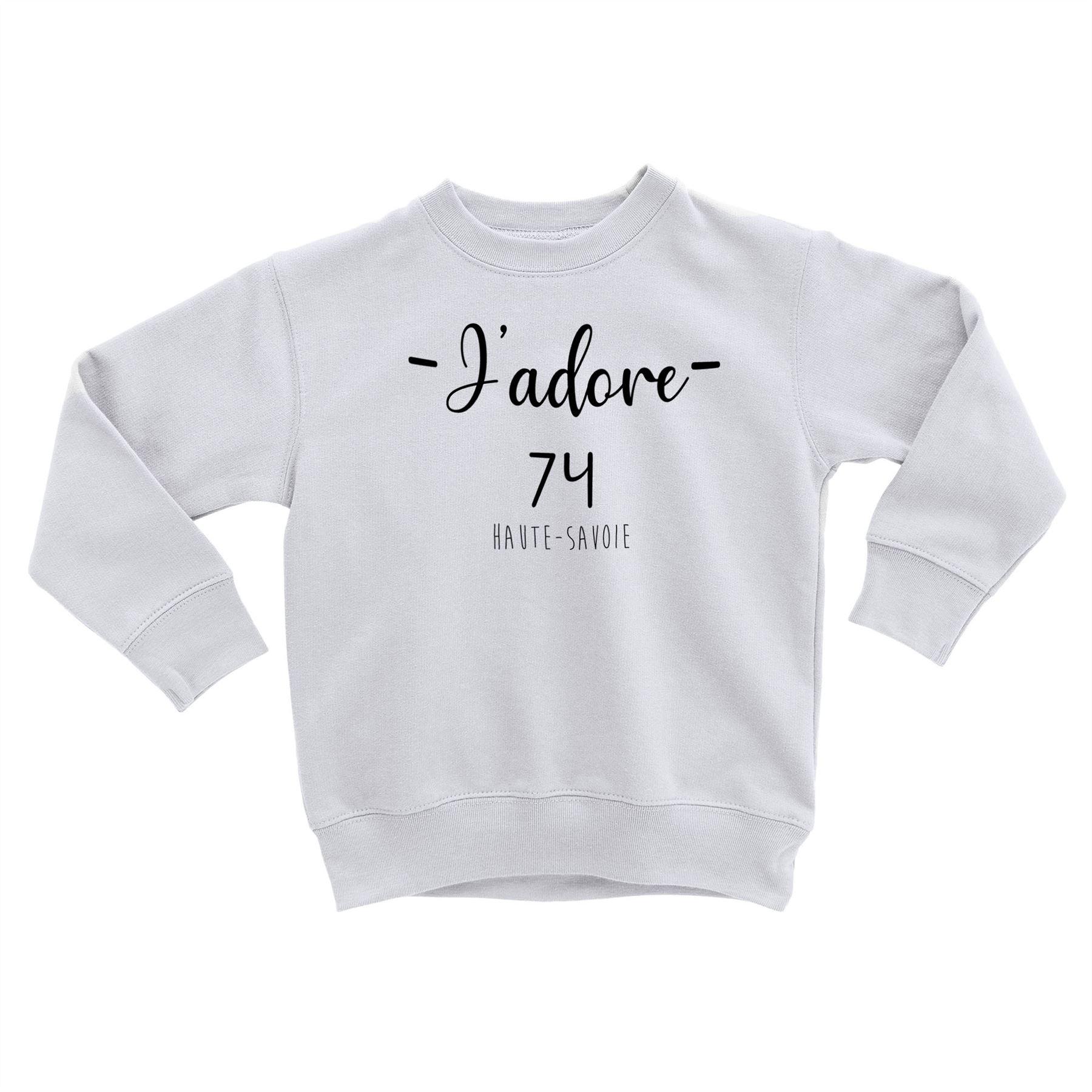 Détails Sur Sweatshirt Enfant J'adore 74 Haute Savoie Departement France  Region Annecy encequiconcerne Région Et Département France