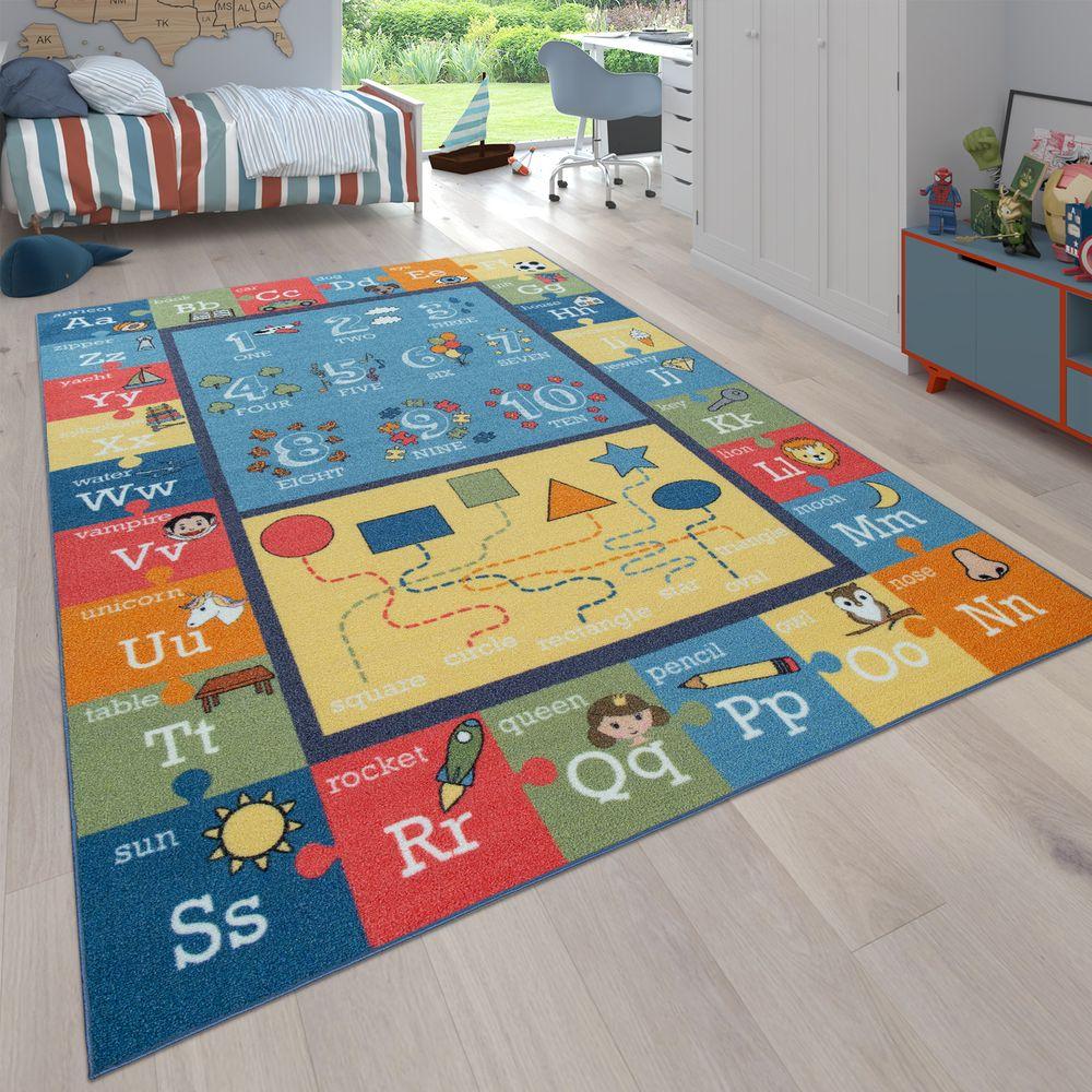 Détails Sur Tapis Pour Enfant Coloré Doux Alphabet Lettres Chiffres Formes  Bordure Jeux Éduc pour Jeux De Lettres Enfants