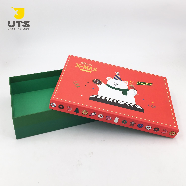 Deux Tailles Personnalisées Rectangle Coloré Boîte Cadeau pour Boite De Noel A Imprimer