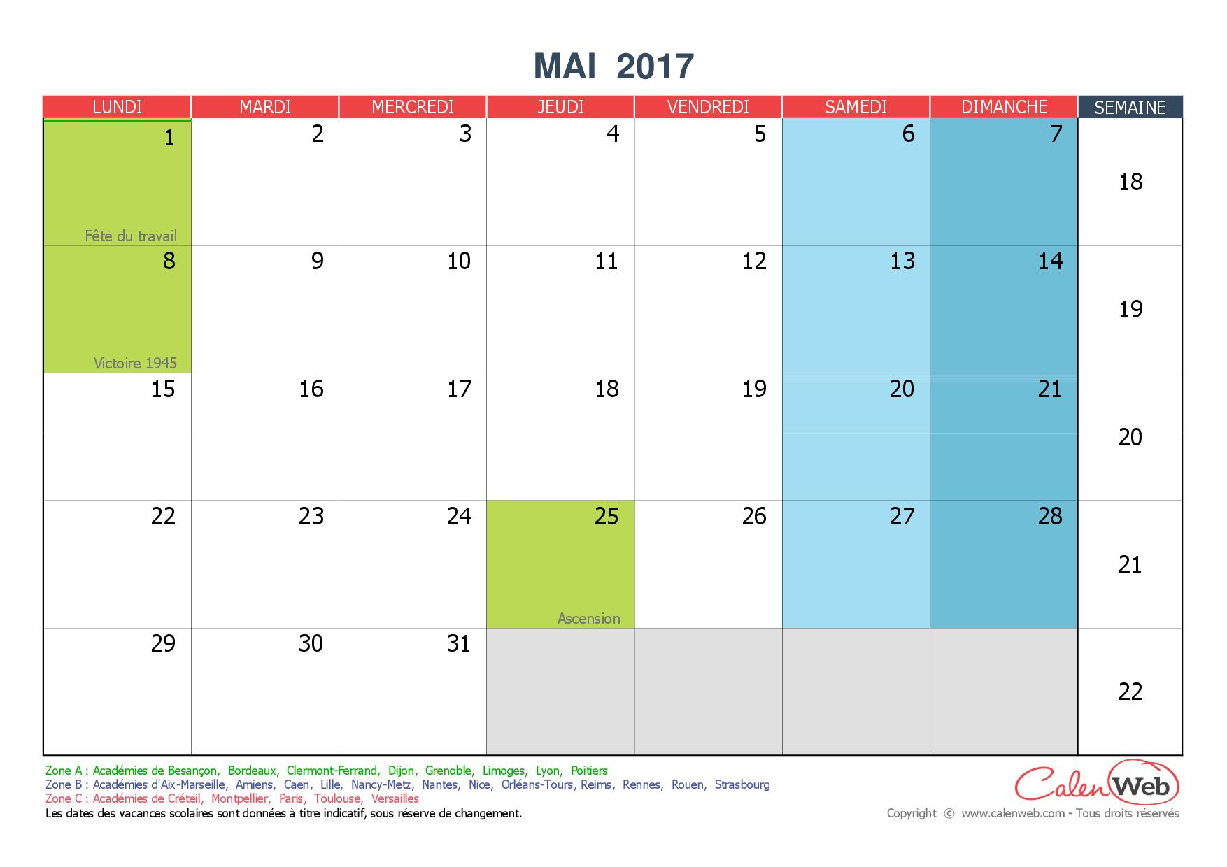 Diagram] Calendrier Mai 2019 Jours Feries 3Mai 3Mai2019 destiné Calendrier 2019 Avec Jours Fériés Vacances Scolaires
