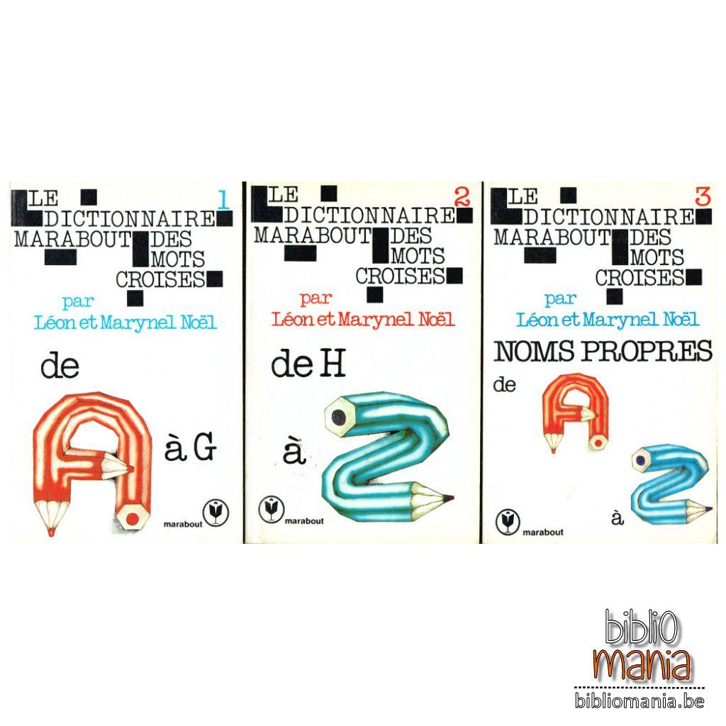 Dictionnaire Marabout Des Mots Croisés, 3 Volumes (Léon Noëm serapportantà Mots Croisés Noel
