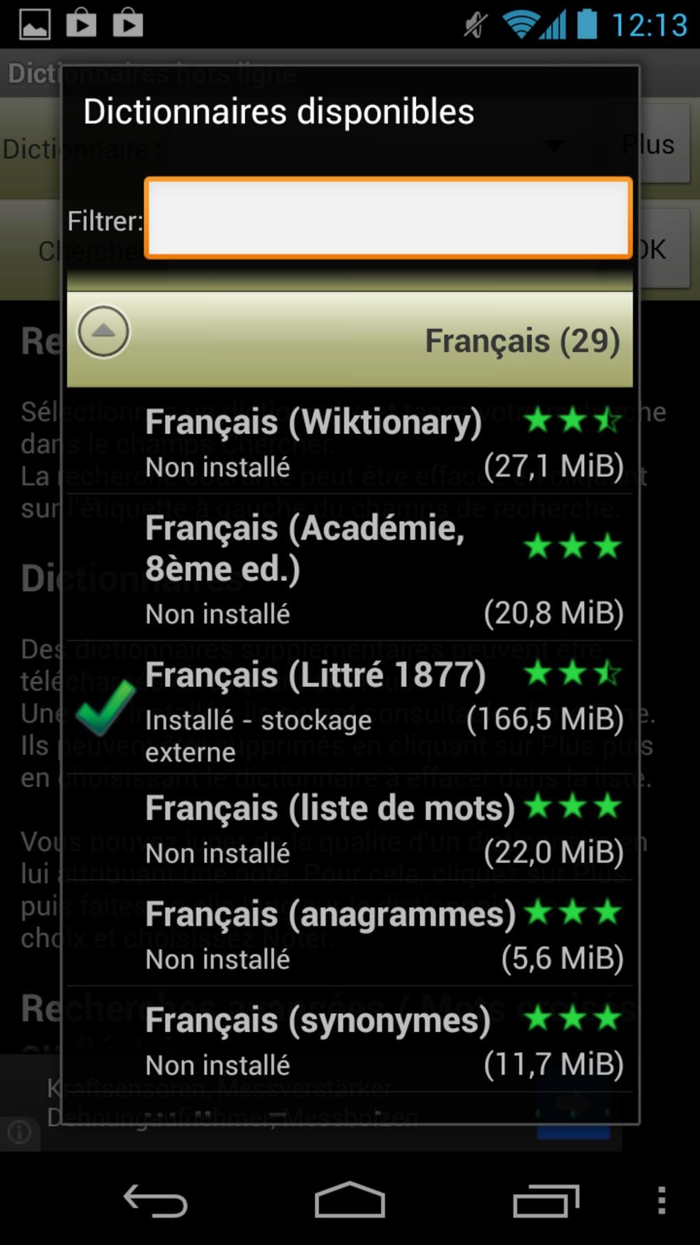 Dictionnaires Hors Ligne Pour Android - Télécharger intérieur Jeux Anagramme Gratuit A Telecharger