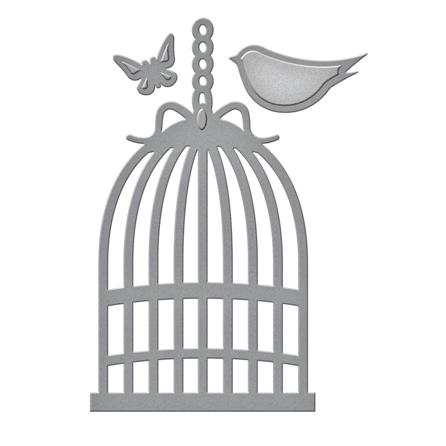 Dies/matrices De Découpe Et Gaufrage 'spellbinders' Cage D concernant Dessin De Cage D Oiseau