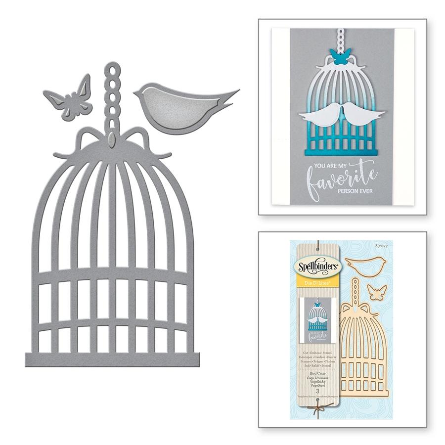 Dies/matrices De Découpe Et Gaufrage 'spellbinders' Cage D encequiconcerne Dessin De Cage D Oiseau