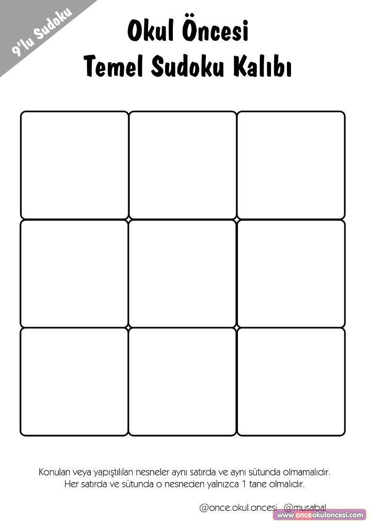 Dilek Özdoğan Adlı Kullanıcının Sudoku Panosundaki Pin destiné Sudoku Junior À Imprimer