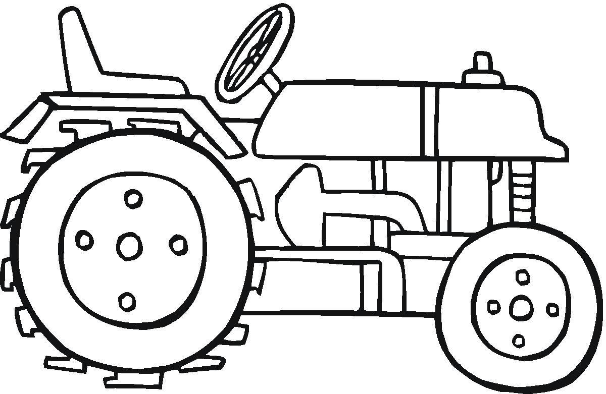 Dimension Garage: Coloriage Tracteur Agricole pour Coloriage Tracteur Tom À Imprimer