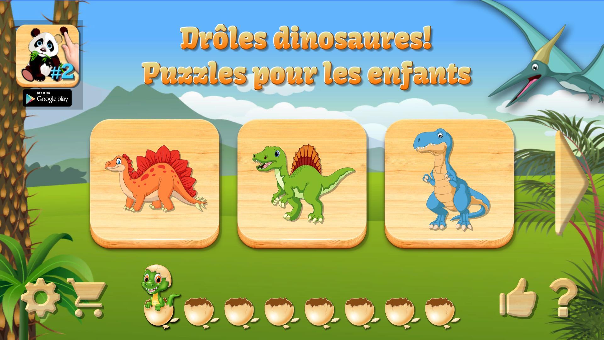Dino Puzzle - Jeux Educatif Gratuit Pour Android tout Jeux Pour Enfan Gratuit