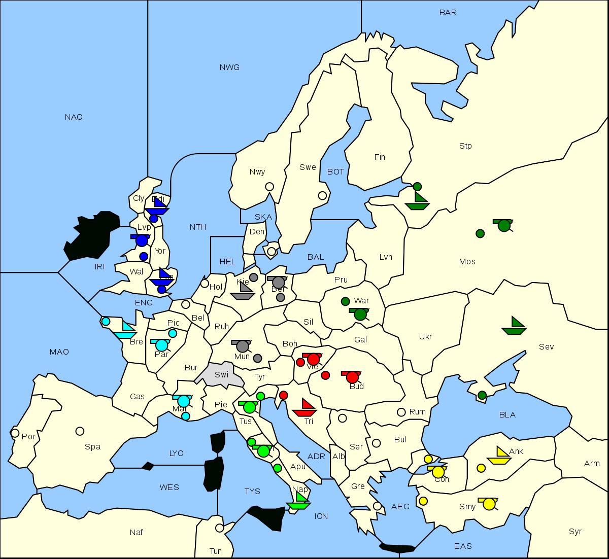 Diplomatie (Jeu) — Wikipédia pour Jeu Puissance 4 En Ligne