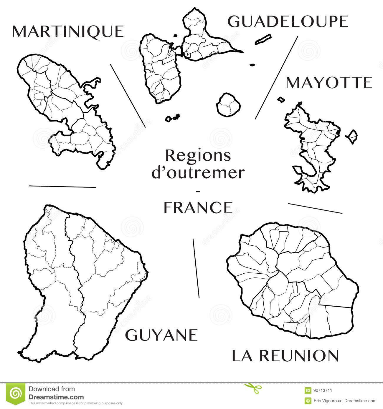 Dirigez La Carte Des Régions D'outre-Mer Françaises Avec La avec Carte France D Outre Mer