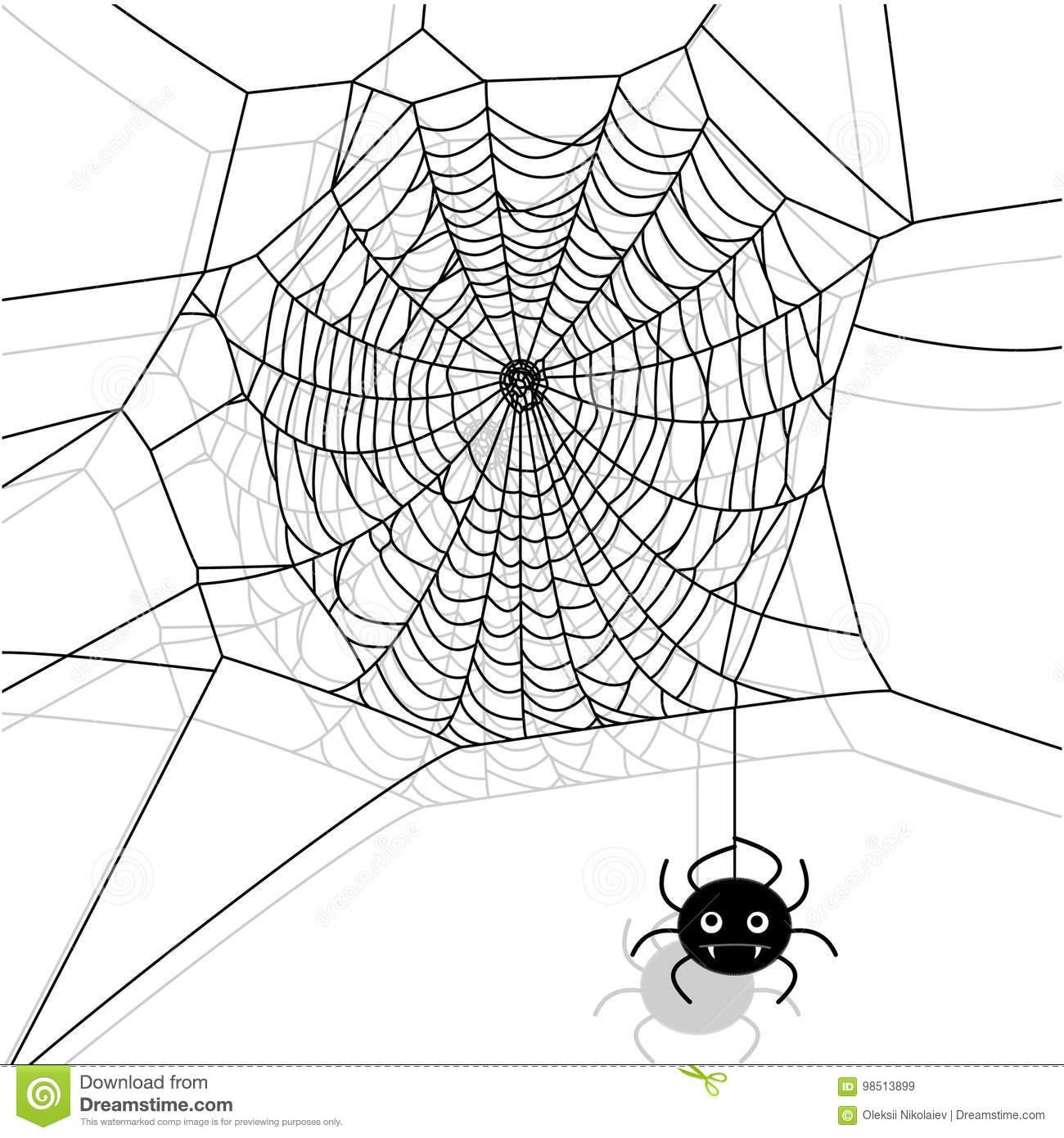 Dirigez La Toile D'araignée Et La Petite Araignée Sur Le intérieur Toile D Araignée Dessin