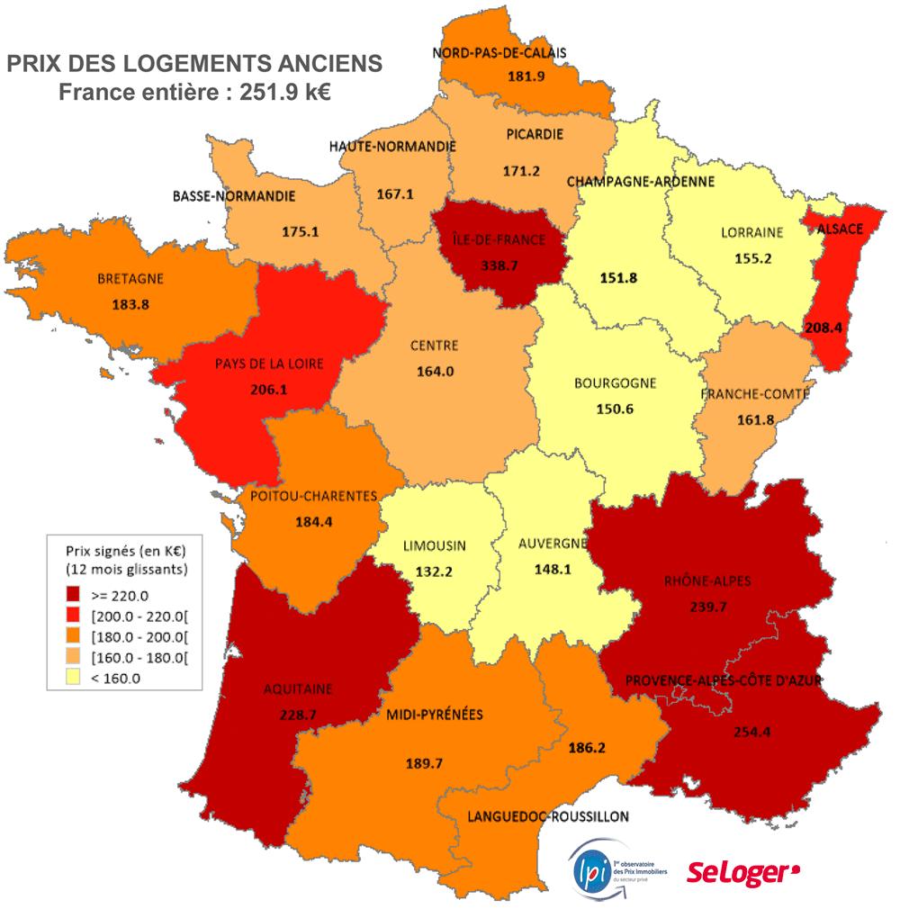 Dis-Moi Où Tu Veux Habiter, Je Te Dirai Combien Te Coûtera avec Combien De Region En France