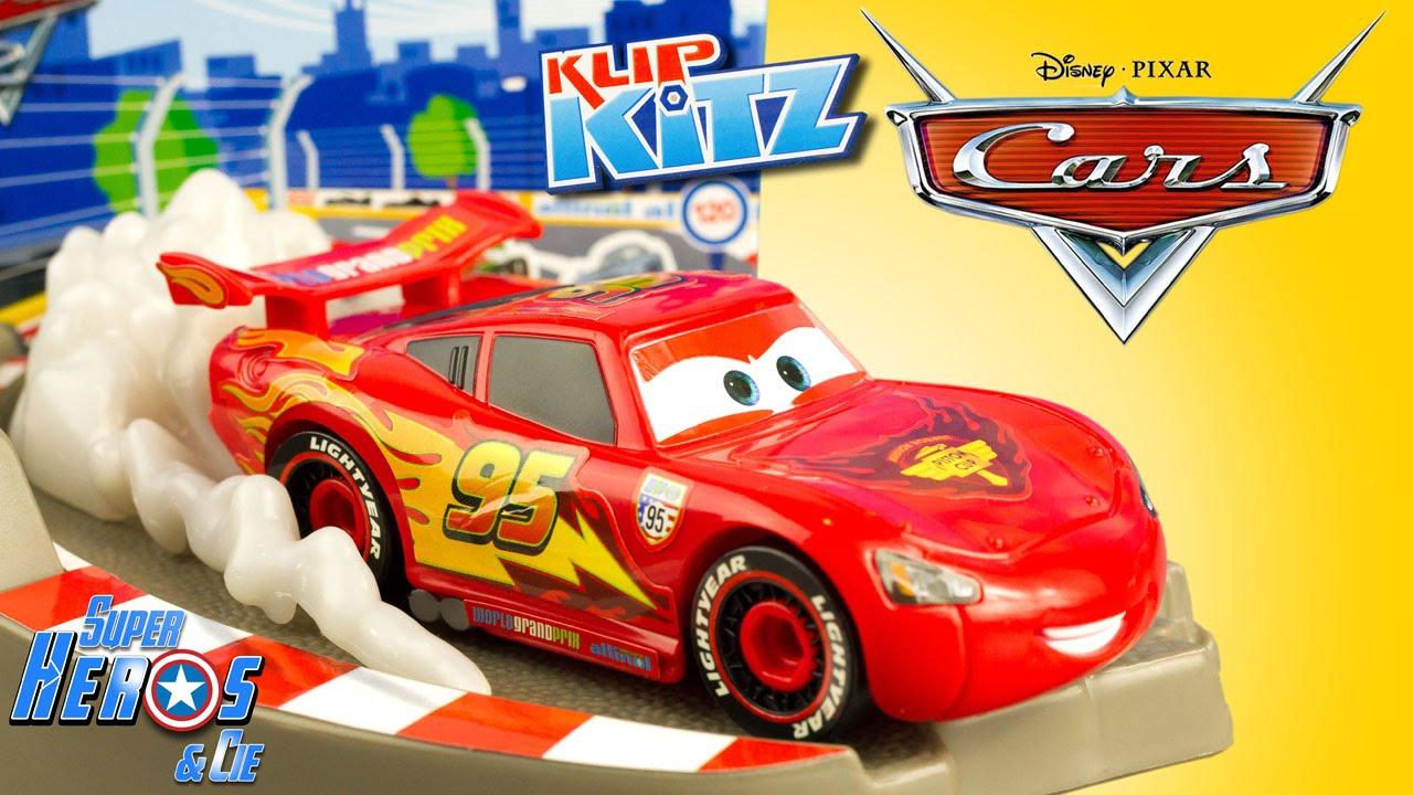 Disney Cars 2 Klip Kitz Lightning Mcqueen Buildable Toy 4K #unboxing  Colouring Juguetes concernant Coloriage De Flash Mcqueen