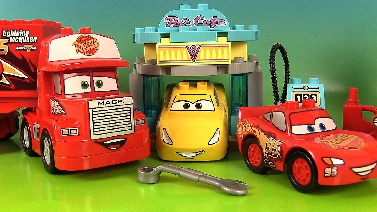Disney Cars 3 Lego Duplo Jeu De Construction Le Café De Flo Martin avec Flash Mcqueen Martin