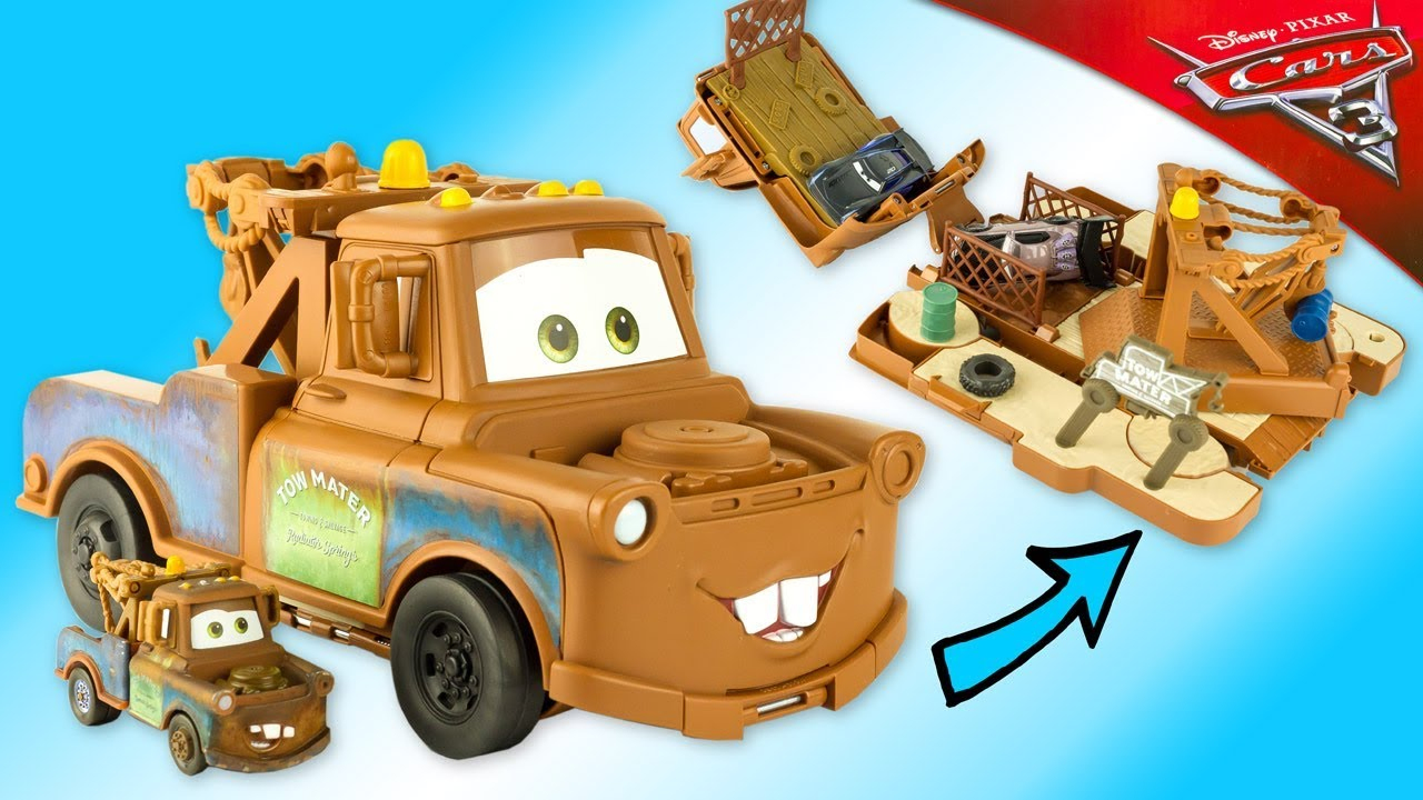 Disney Cars 3 Transforming Tow Mater Playset Lightning Mcqueen Toy Review  Juguetes Rayo serapportantà Flash Mcqueen Martin