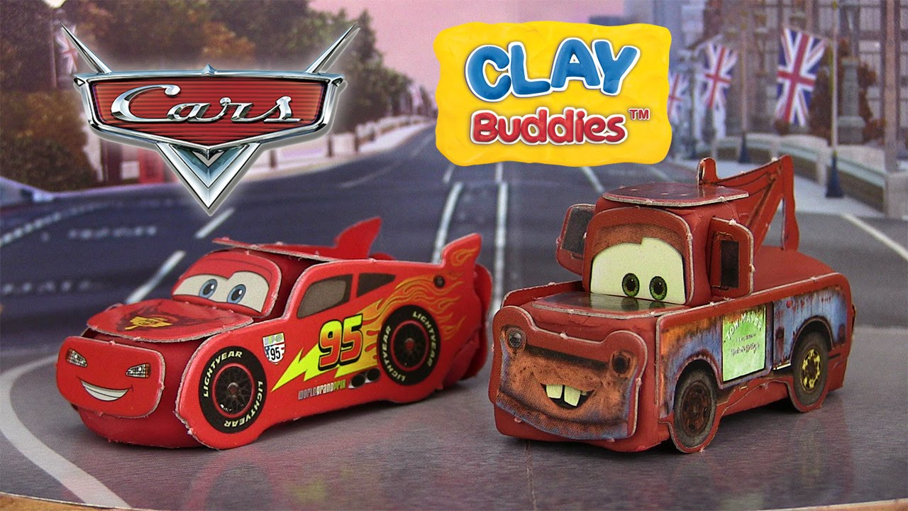 Disney Cars Clay Buddies Pâte À Modeler Martin Flash Mcqueen Play Doh intérieur Flash Mcqueen Martin