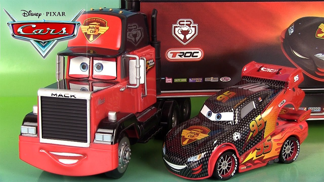 Disney Cars Lanceur Cars Carbon Racer Mack Hot Rod Flash Mcqueen Martin  Francesco Bernoulli serapportantà Flash Mcqueen Martin
