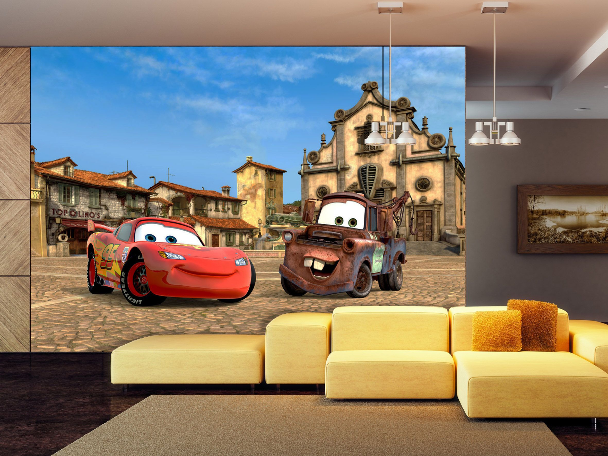 Disney Cars Wallpaper Murals By Wallandmore! Beautiful intérieur Flash Mcqueen Martin