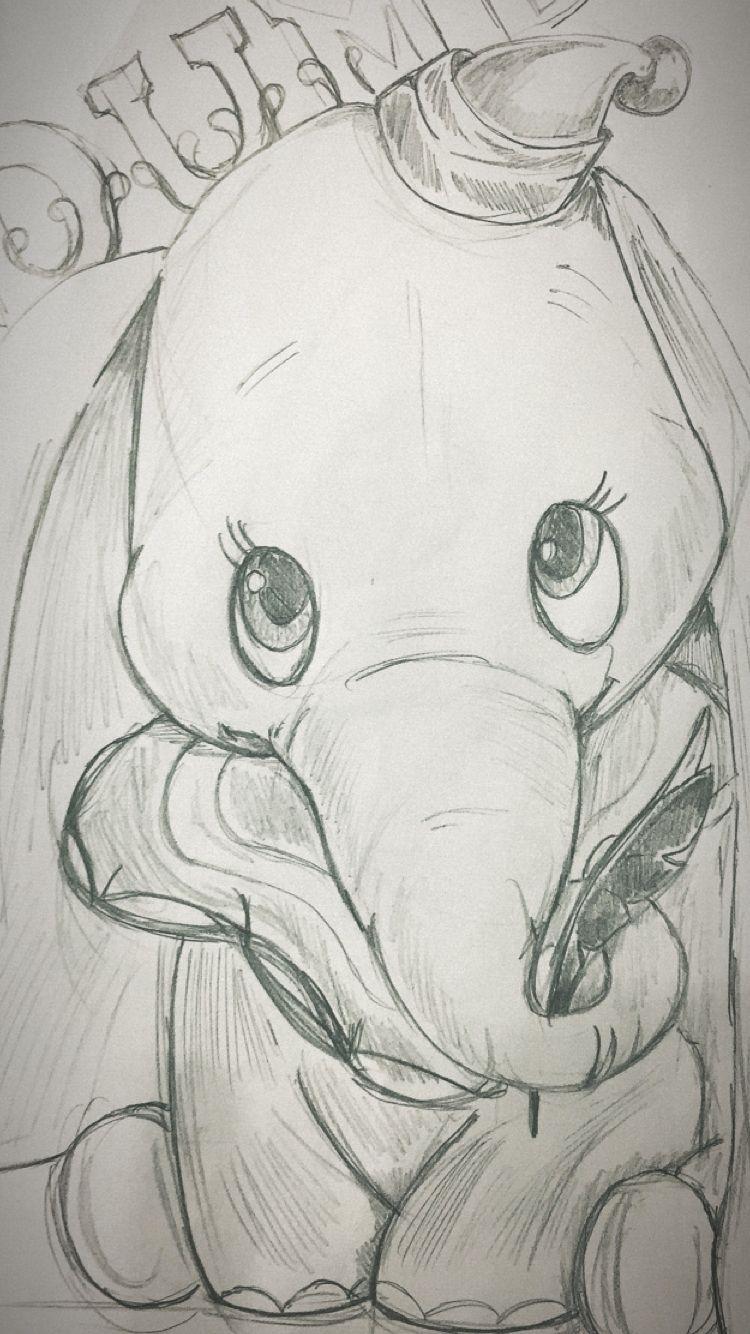 Disney Dessin Dumbo Crayon | Dessin Dumbo, Dessin, Dessins pour Dessin Dumbo