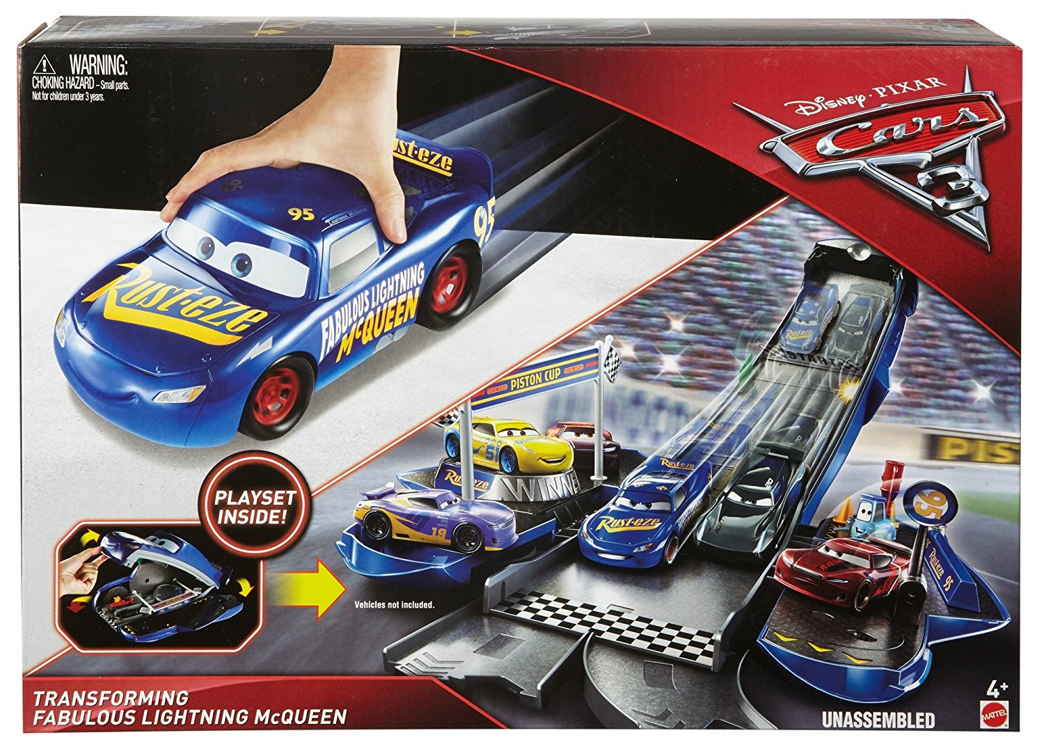 Disney/pixar Cars 3 Transforming Fabulous Lightning Mcqueen Playset dedans Flash Mcqueen Martin