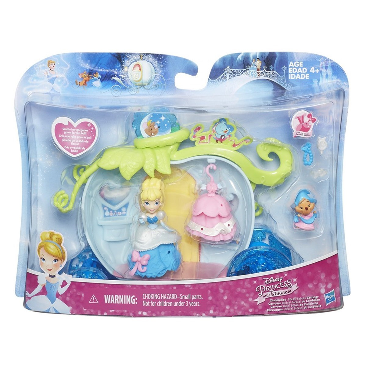 Disney Princess Little Kingdom Balo Elbiseleri B5344 Yeşil (B) intérieur Cendrillon 3 Disney
