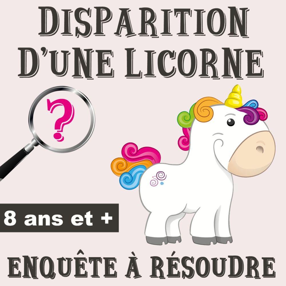Disparition D'une Licorne | Activite Anniversaire Enfant intérieur Jeux De Fille 3 Ans Gratuit