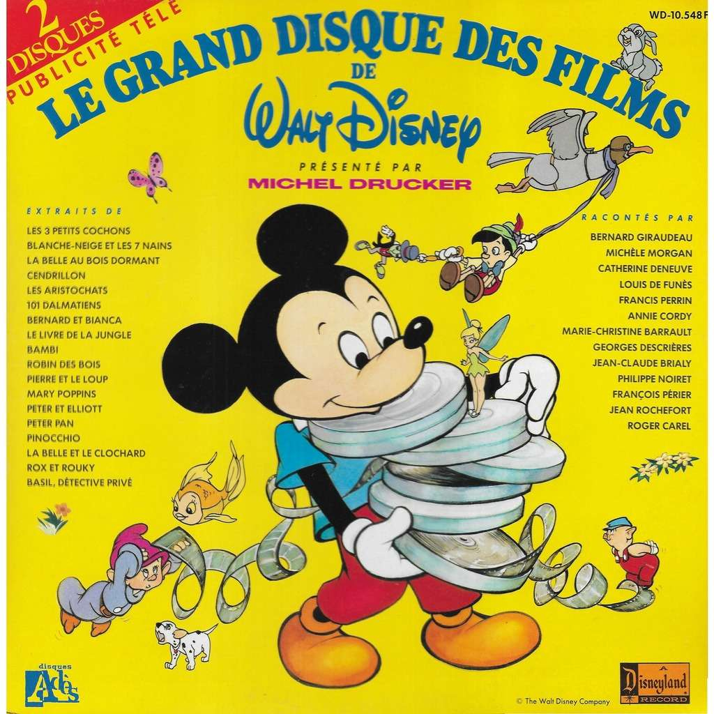 Divers Le Grand Disque Des Films De Walt Disney destiné Cendrillon 3 Disney