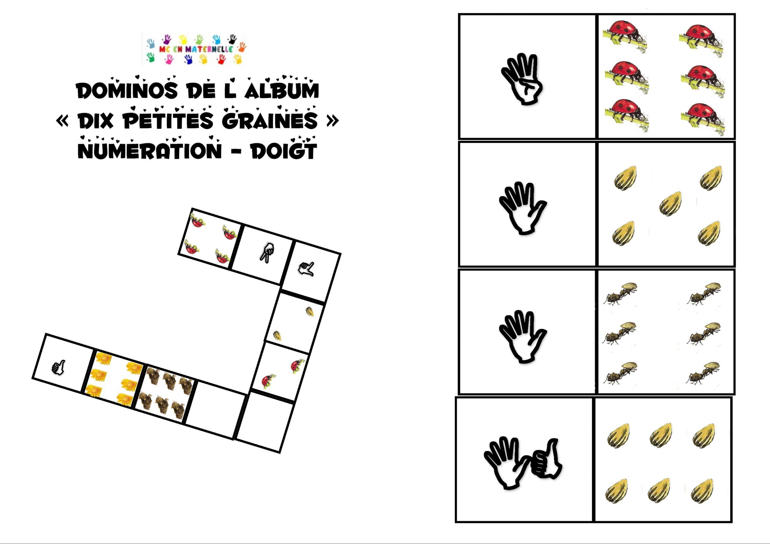 Dix Petites Graines : Dominos Numération (Doigts) – Mc En avec Dominos À Imprimer
