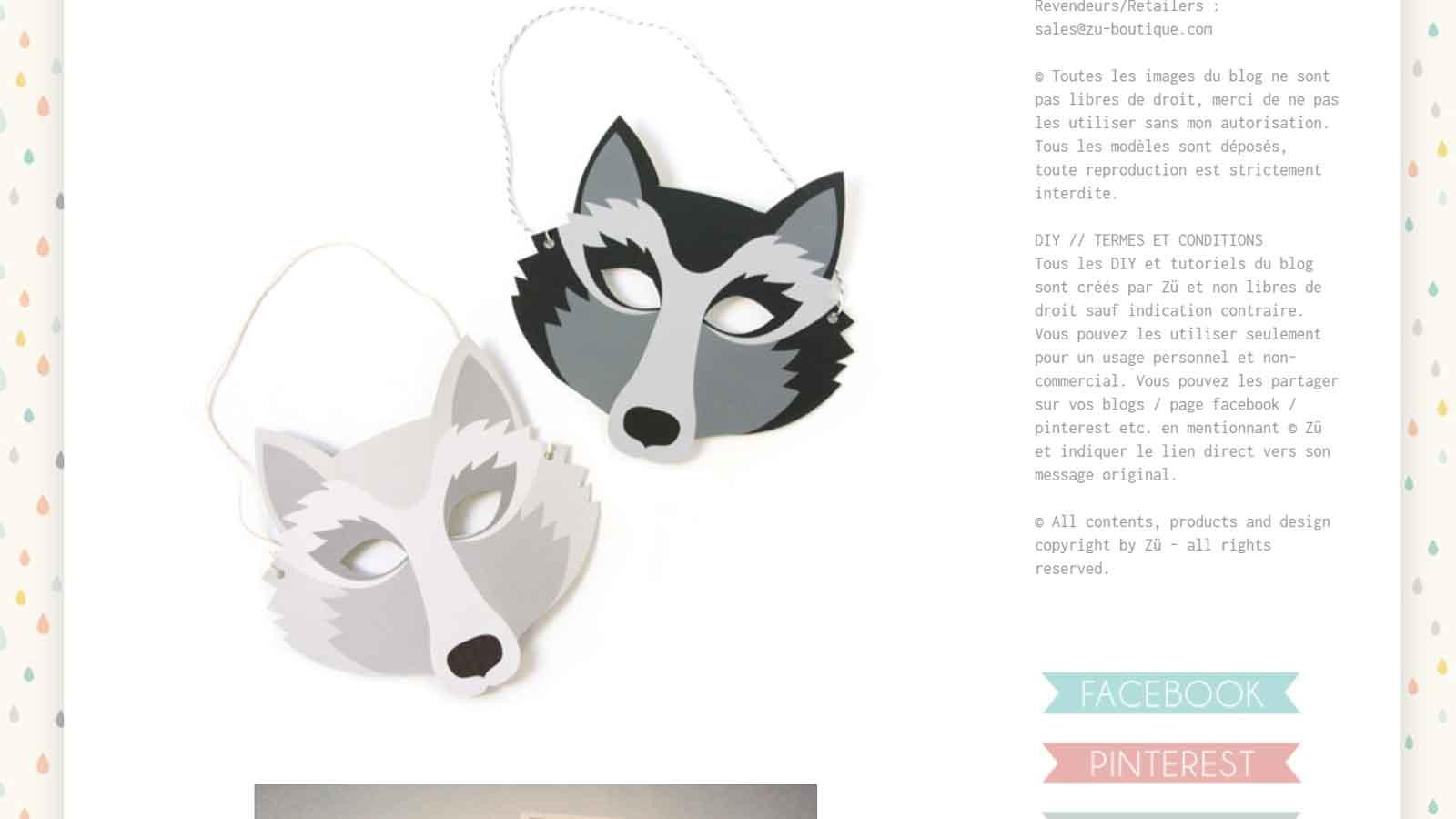 Diy : 19 Masques Gratuits À Imprimer Et Découper Soi-Même concernant Masque Loup A Colorier