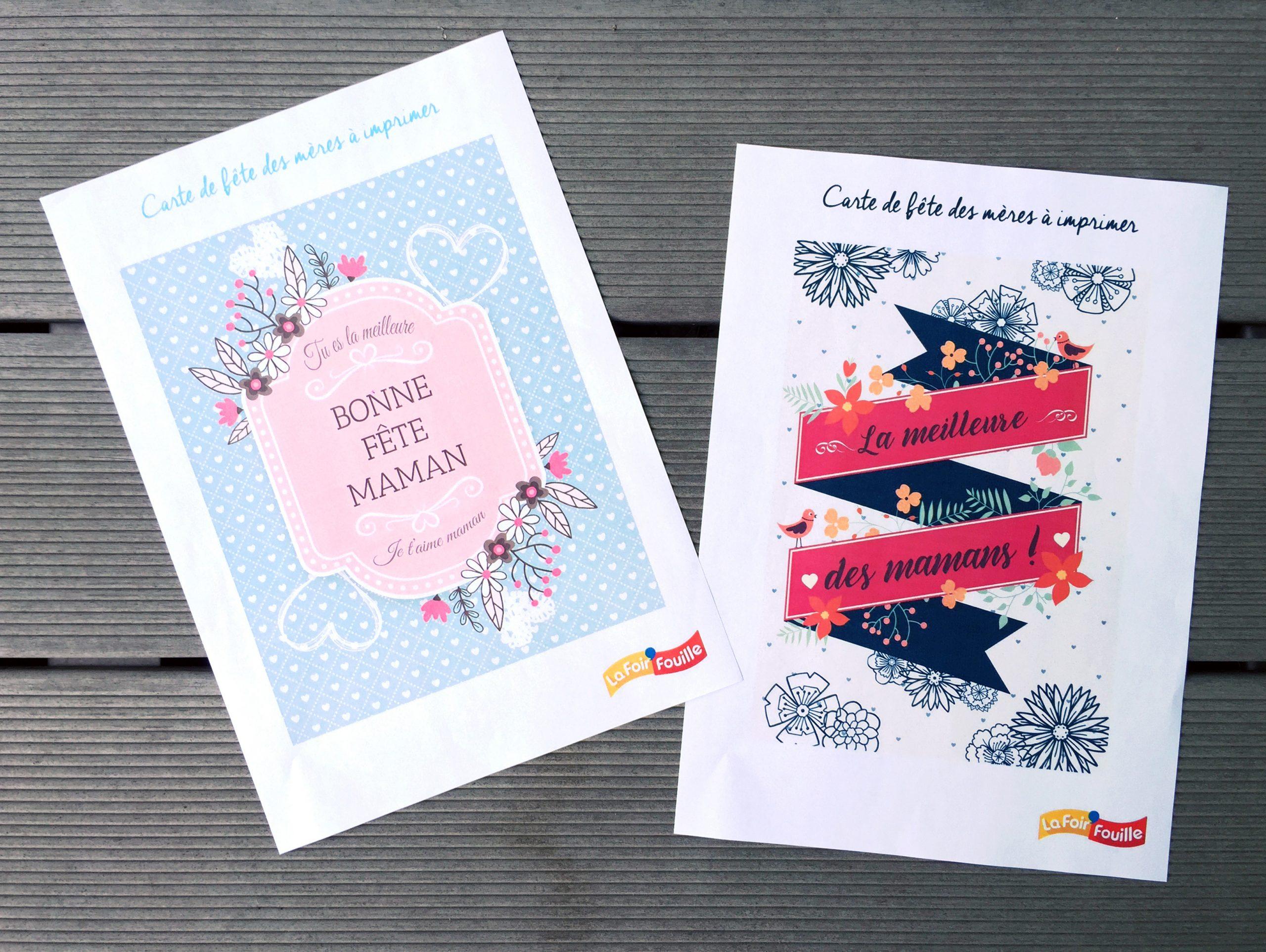 Diy : 3 Cartes De Fête Des Mères À Imprimer | Blog La destiné Carte Fête Des Mères À Imprimer