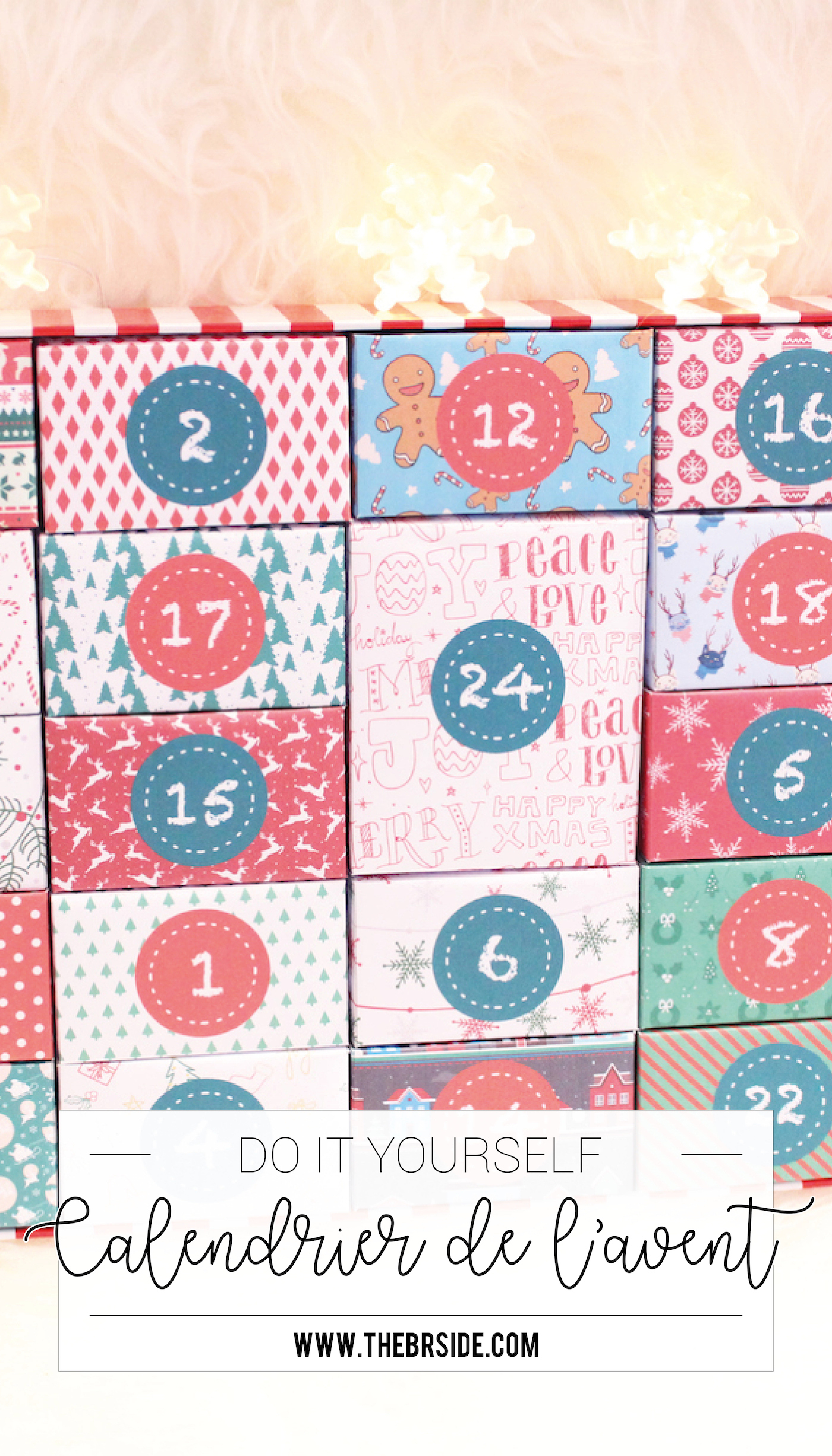 Diy - Calendrier De L'avent Et Ses 24 Boîtes À Imprimer avec Boite De Noel A Imprimer