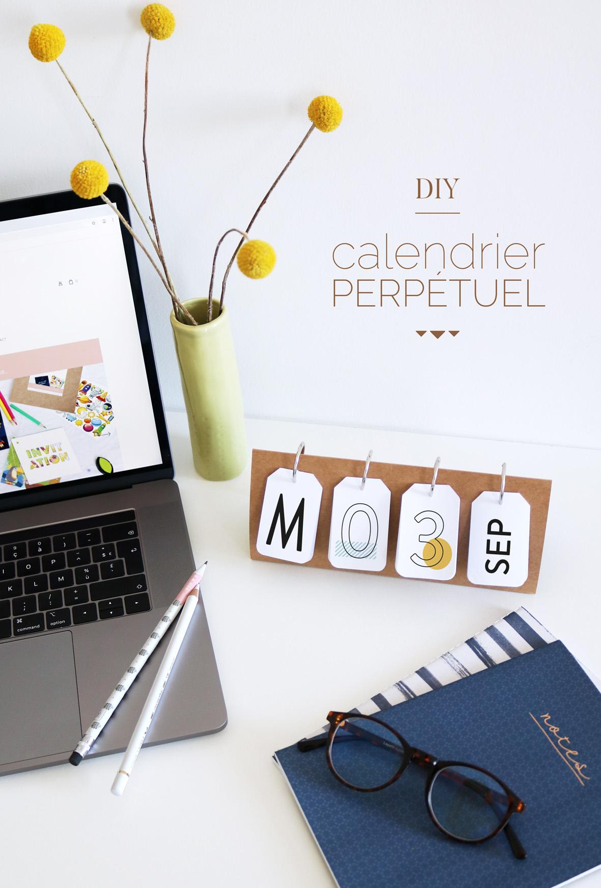 Diy Calendrier Perpétuel En Papier – Joli Jour J / Le Blog concernant Calendrier Anniversaire Perpétuel À Imprimer