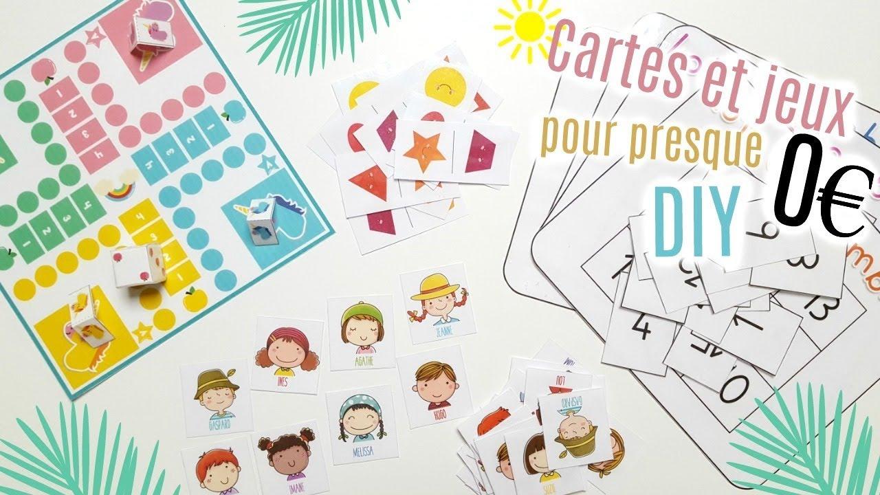 Diy Comment Fabriquer Cartes Et Jeux Pour Enfants concernant Jeux De Société À Imprimer