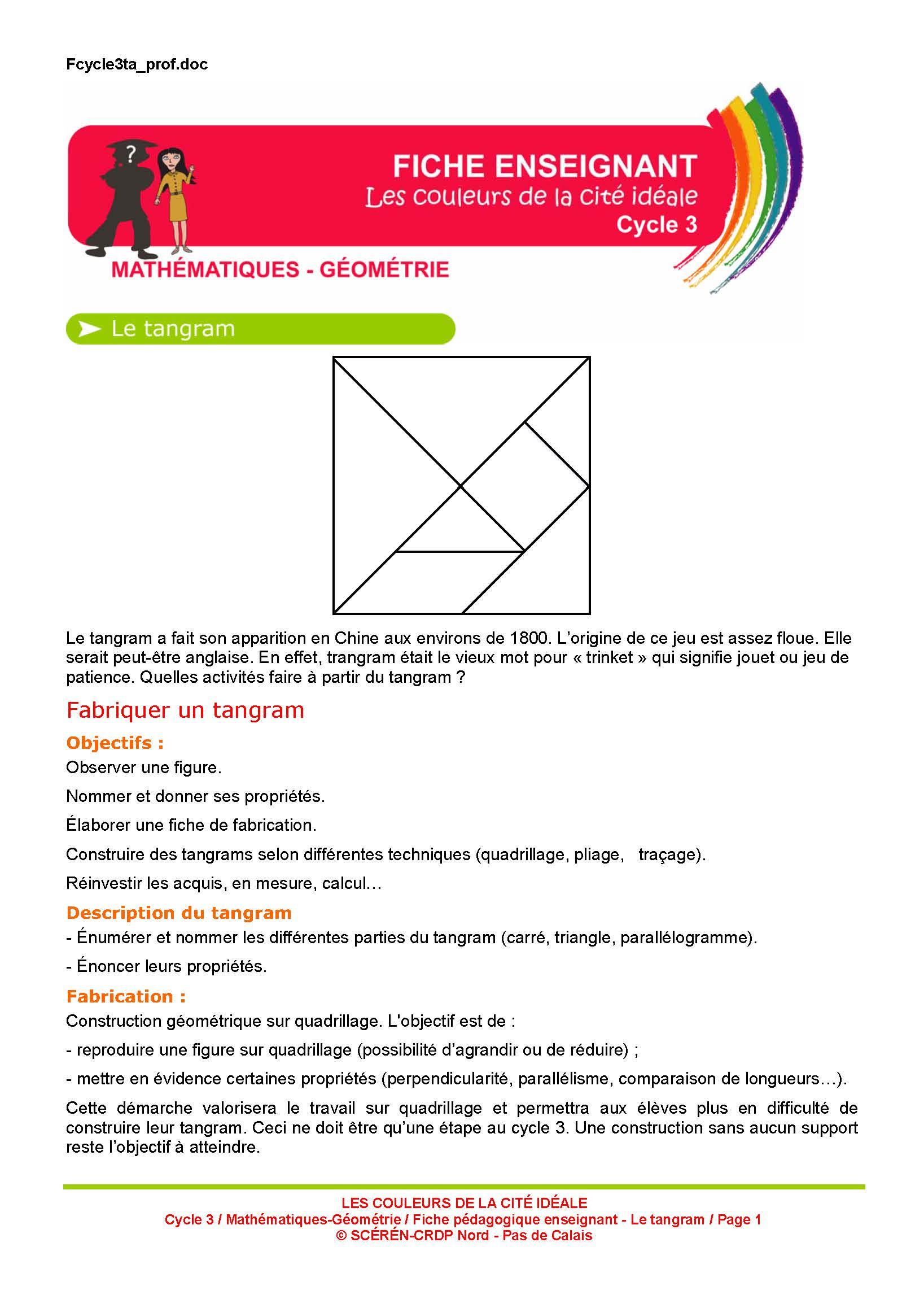 Diy] Des Tangrams En Mousse Pour Toute La Classe ! - Maikresse72 destiné Tangram À Imprimer Pdf