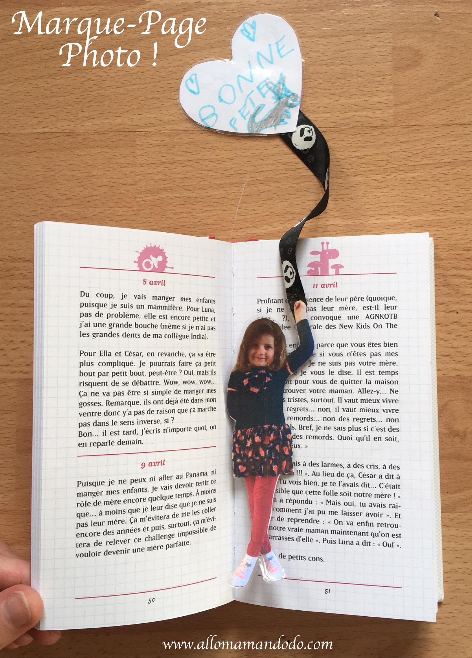 Diy Marque-Page Photo D'enfant! (Idée Cadeau Facile Pour La concernant Marque Page Gratuit À Imprimer