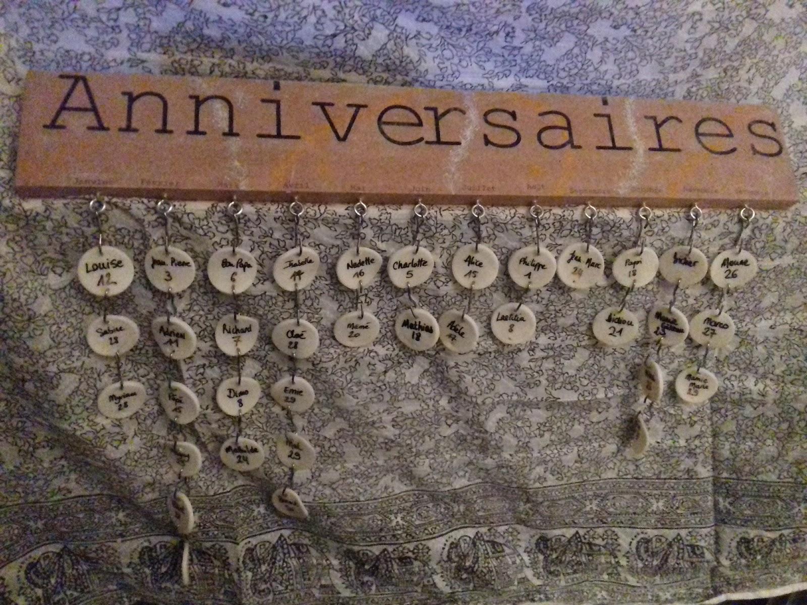 Diy - Mon Calendrier D'anniversaire intérieur Calendrier Anniversaire Perpétuel À Imprimer