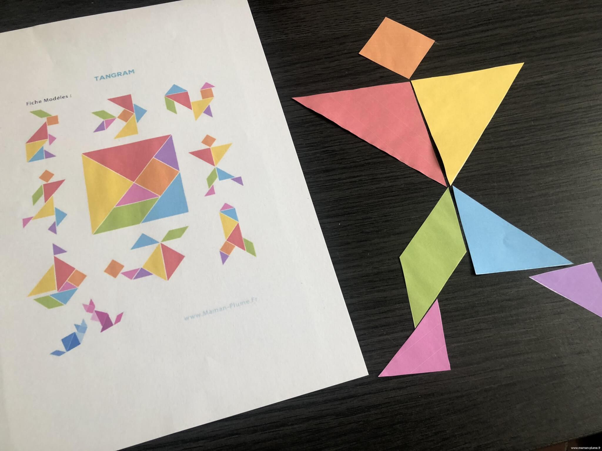 Diy, Mon Jeu De Tangram À Imprimer | Le Blog De Maman Plume concernant Modèle Tangram À Imprimer