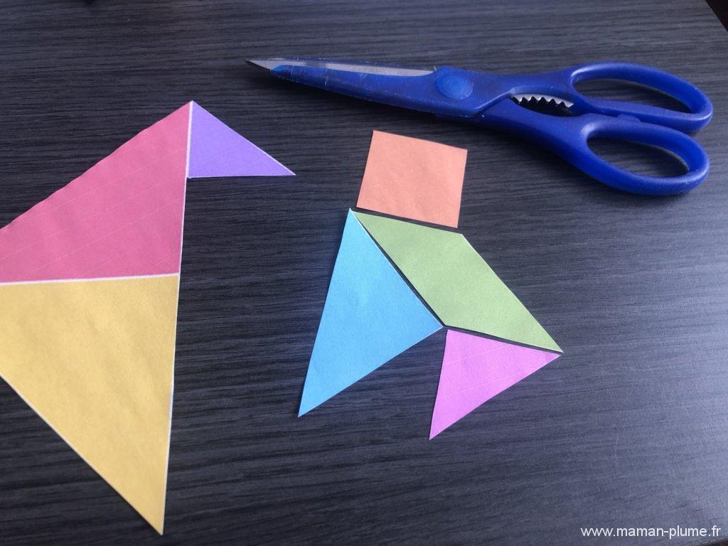 Diy, Mon Jeu De Tangram À Imprimer | Le Blog De Maman Plume pour Jeu De Tangram À Imprimer