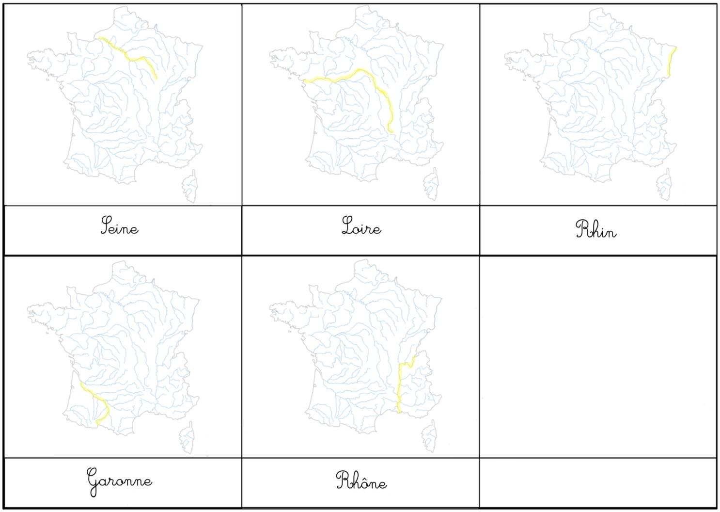 Diy Montessori: Fleuves Et Autres pour Carte Des Fleuves En France