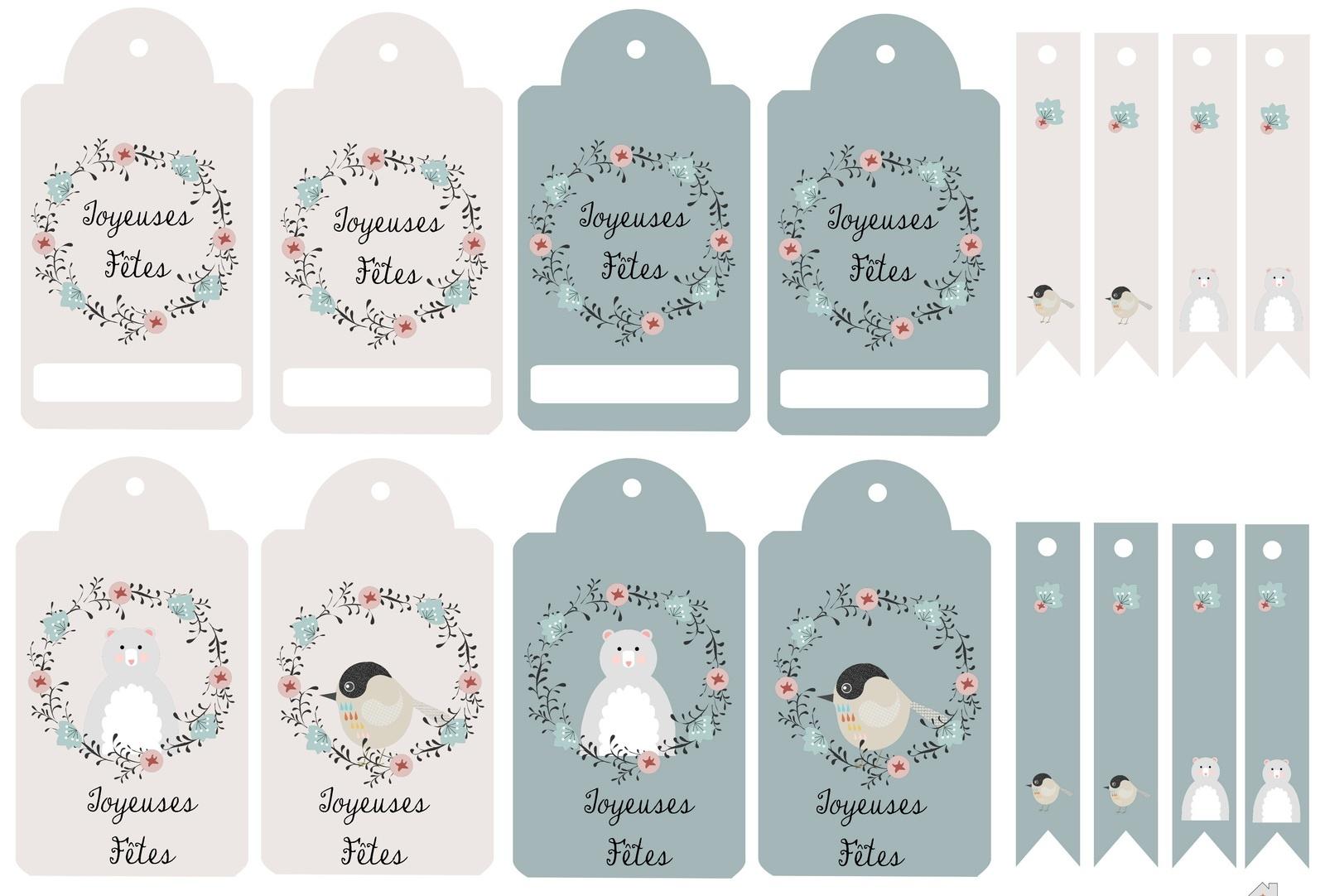 Diy Noël] 20 Planches D'étiquettes À Imprimer Gratuitement avec Etiquette Cadeau Noel A Imprimer Gratuitement
